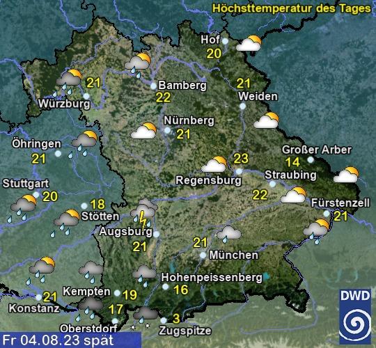 Wetter Bayern Morgen